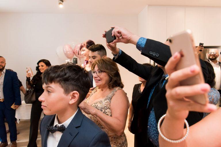 Phones at a wedding